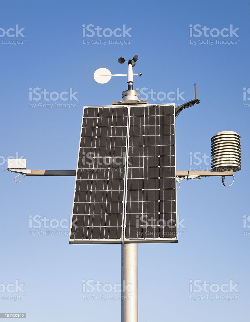 Climate Monitoring Equipment - Outdoor Weather Station royalty-free stock photo