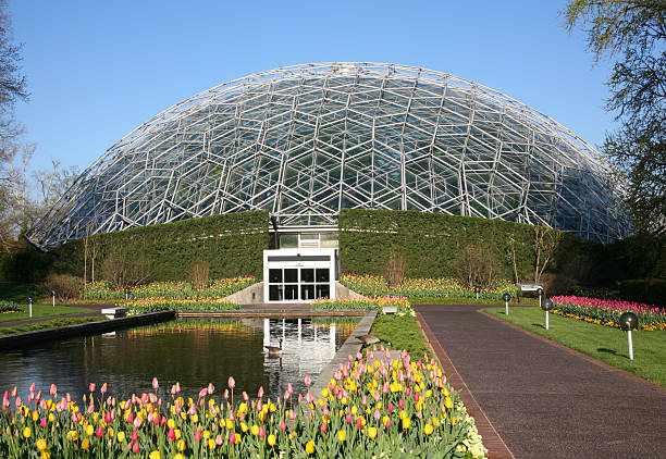 Climatron - Missouri Botanical Garden, St. Louis, Missouri, USA stock photo