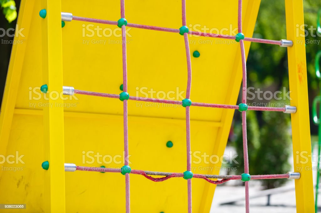 climb net rope close up background and textures stock photo