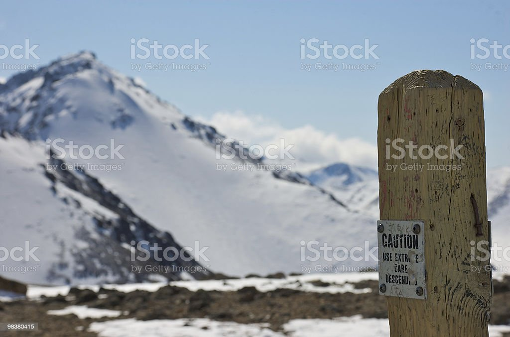 Climb to Summit At Your Own Rish royalty-free stock photo