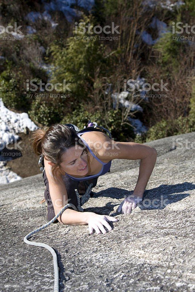Alpinista ragazza foto stock royalty-free