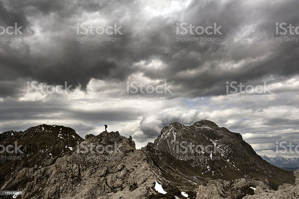 Climber in the Alps stock photo