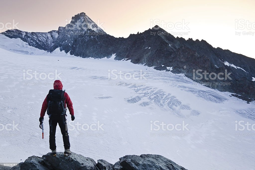 Climber mountain peak royalty-free stock photo