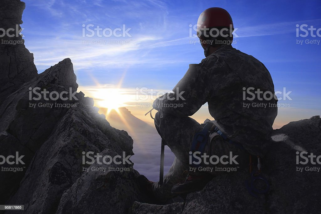 climber on a alp royalty-free stock photo