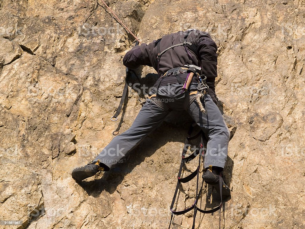 climber on the ladder royalty-free stock photo