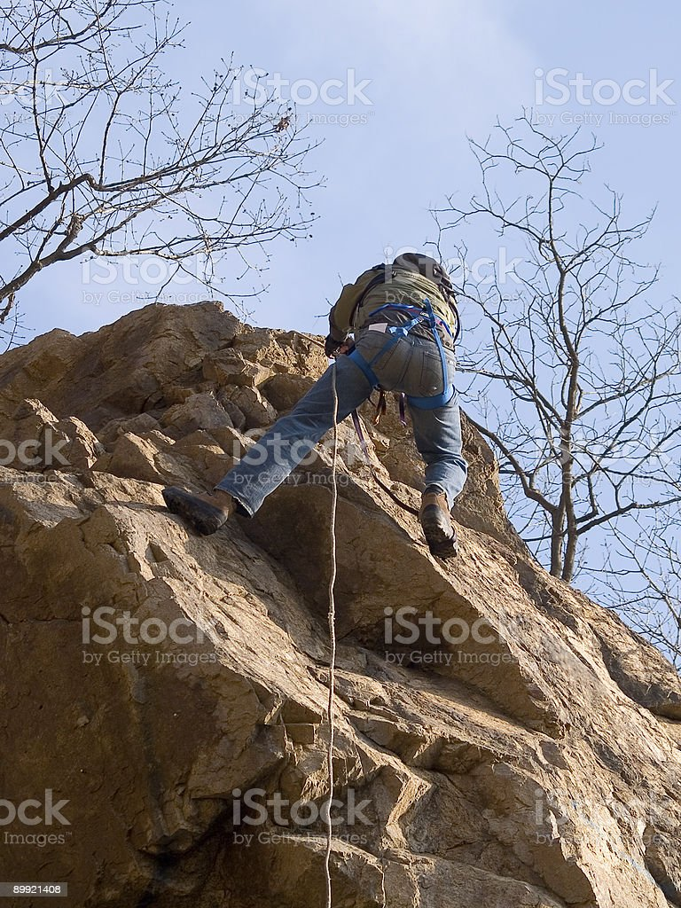 climber on the rope royalty-free stock photo