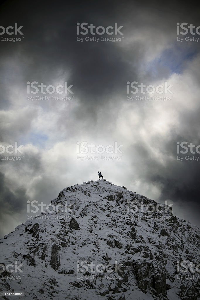 Climber on Top royalty-free stock photo