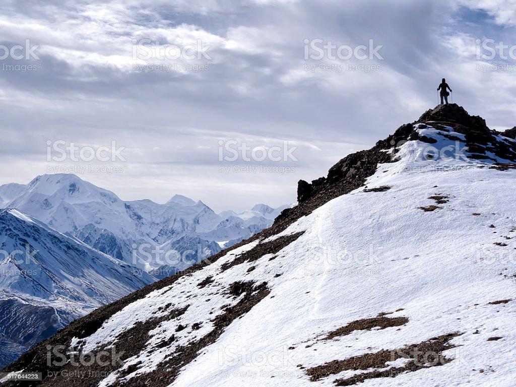 Climber On Top stock photo