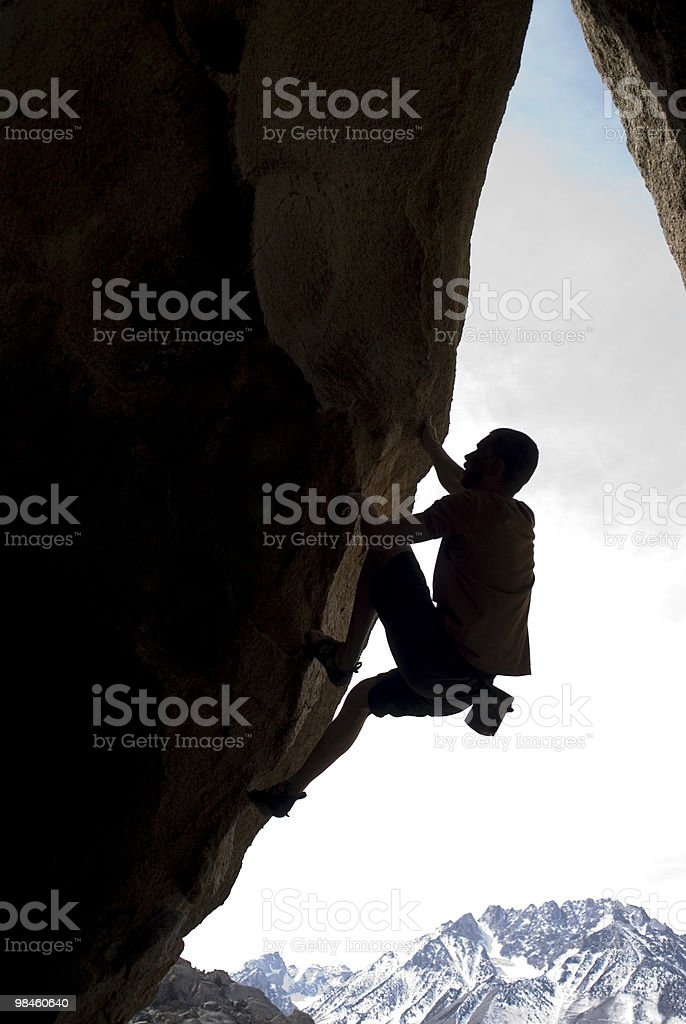 Climber silhouette royalty-free stock photo