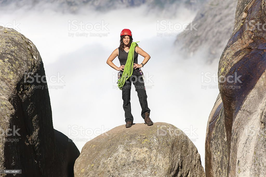 climber with rope royalty-free stock photo