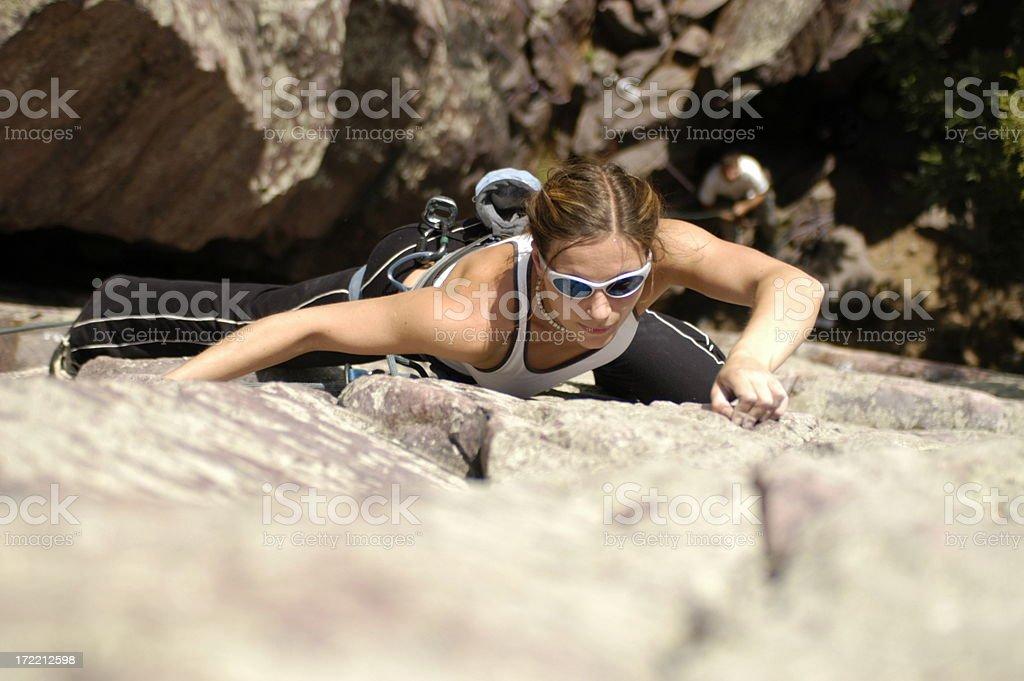 climber woman royalty-free stock photo