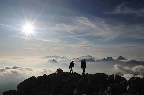 Kletterer Kreuzung der ridge – Foto