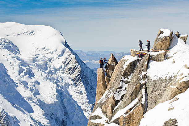 Climbers in Alps