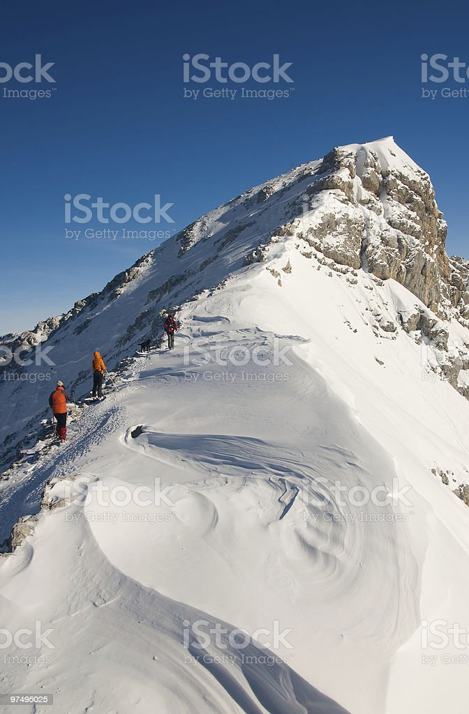 Climbers on the ascent royalty-free stock photo