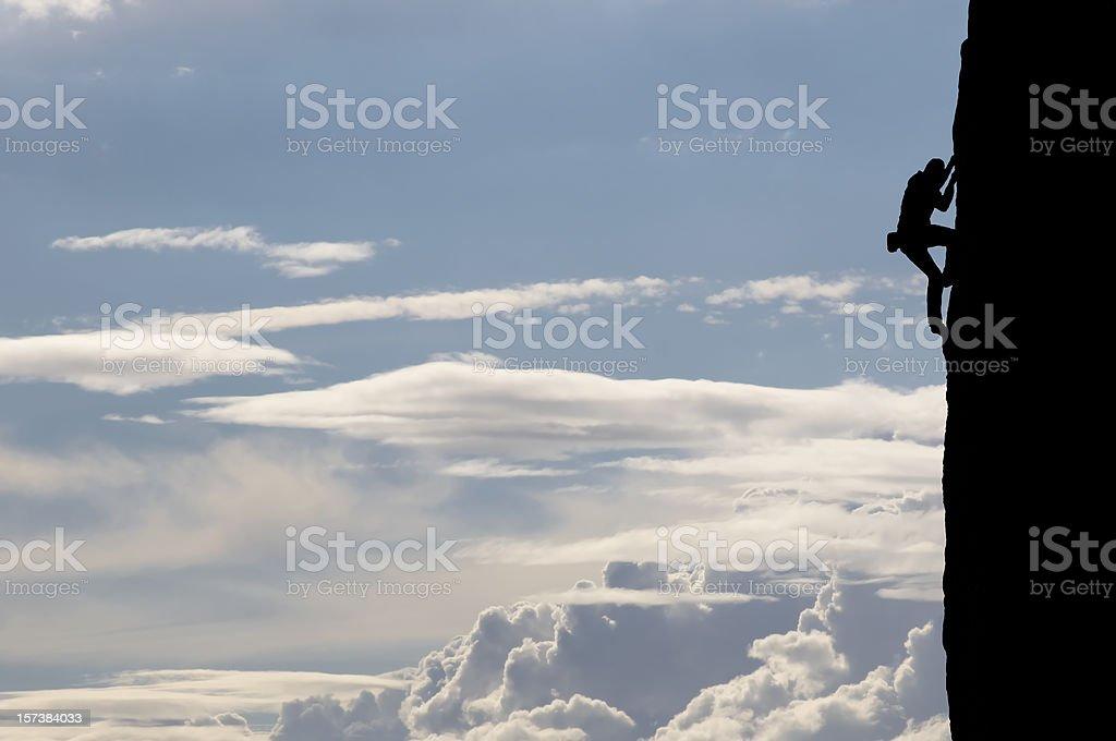 Climbers Silhouette royalty-free stock photo