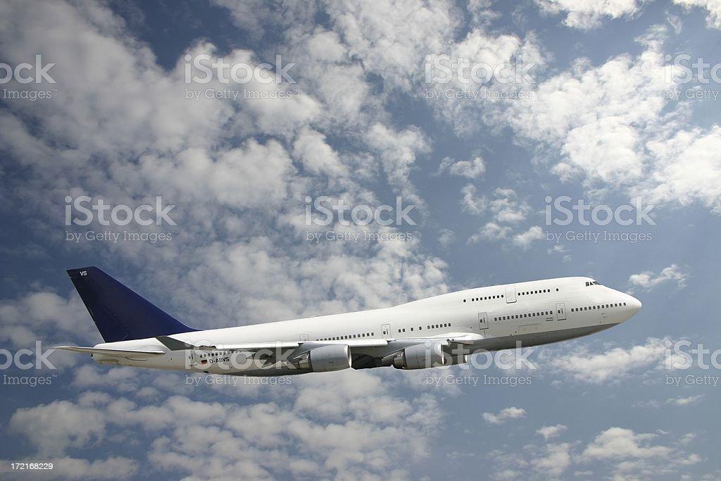 Climbing 747 royalty-free stock photo