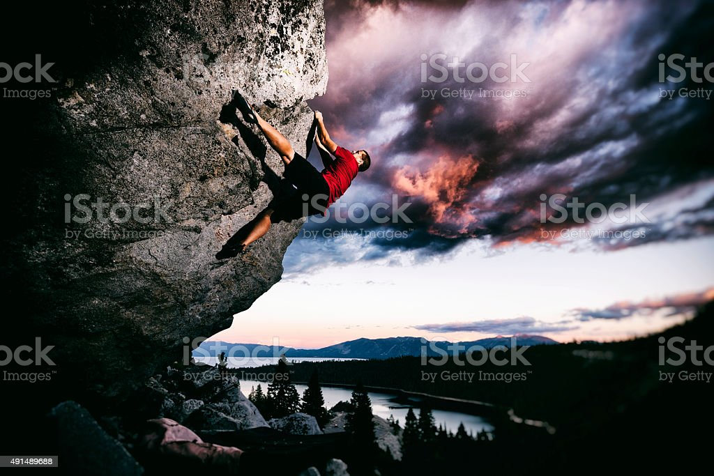 climbing adventure stock photo