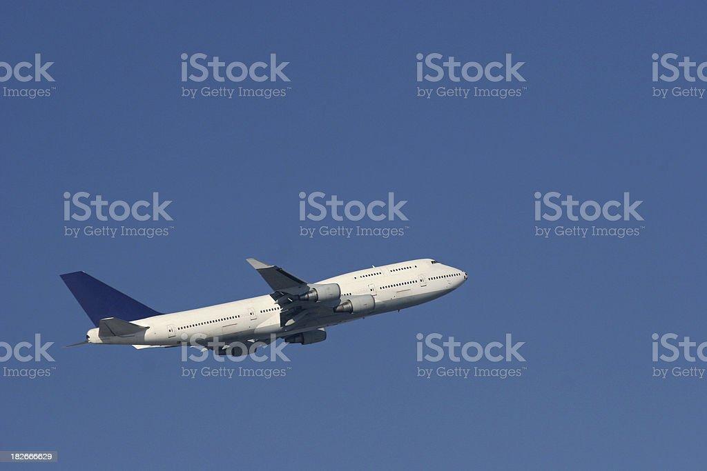 Climbing airplane royalty-free stock photo