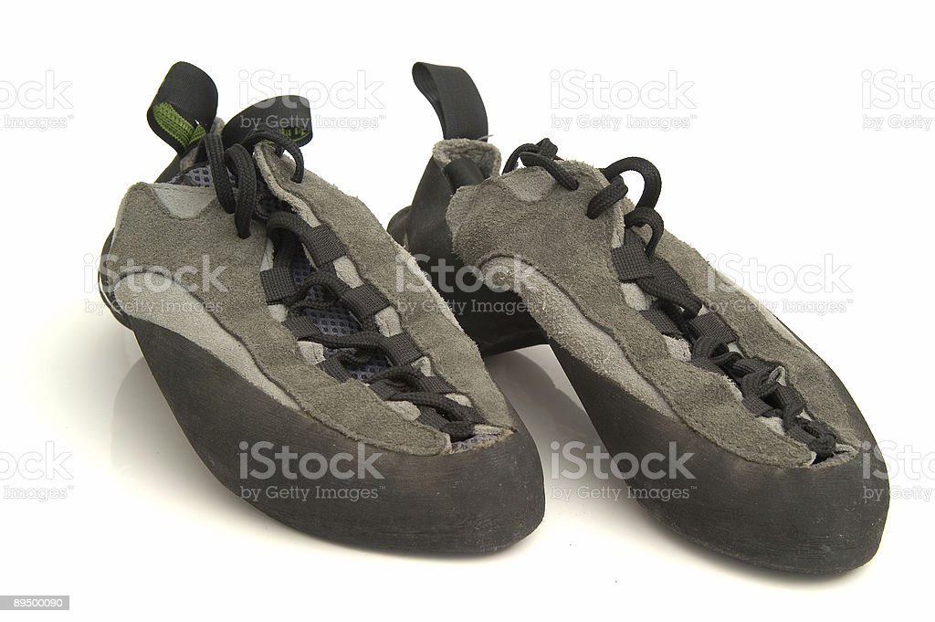 climbing boots isolated on white background royaltyfri bildbanksbilder
