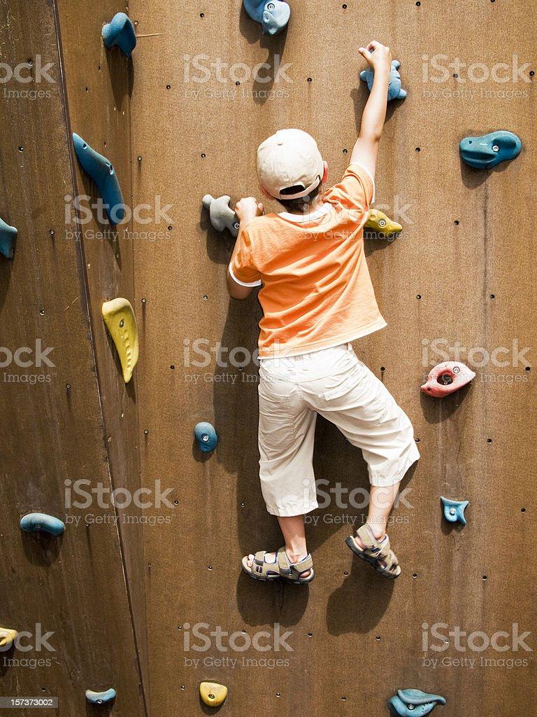 Climbing Boy royalty-free stock photo