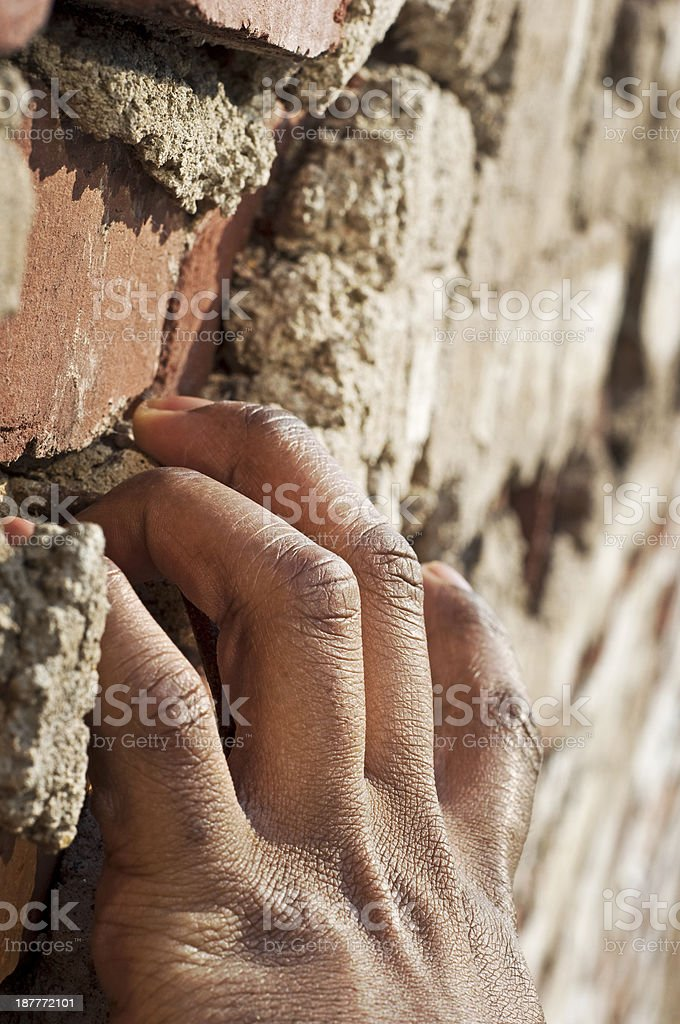 Climbing Brick royalty-free stock photo