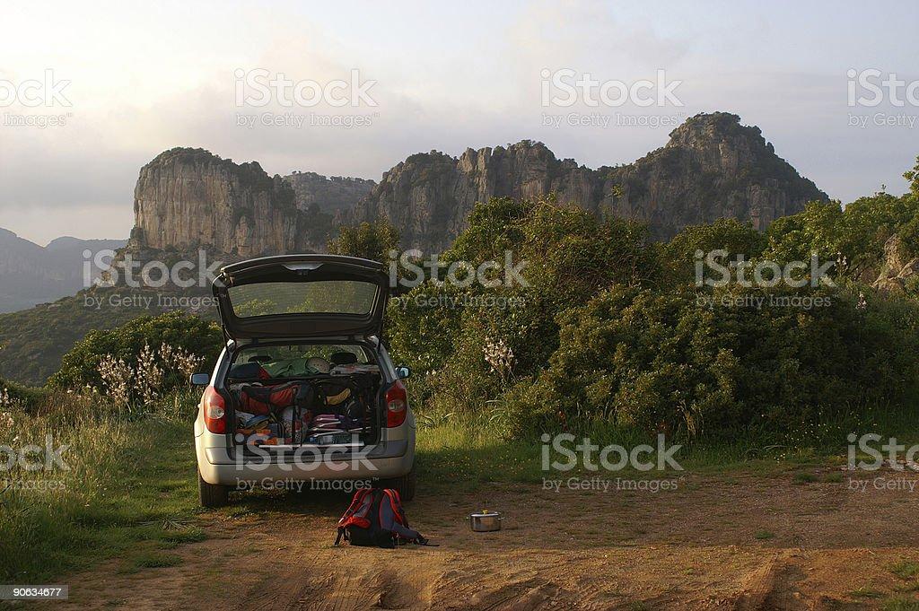 Climbing car royalty-free stock photo