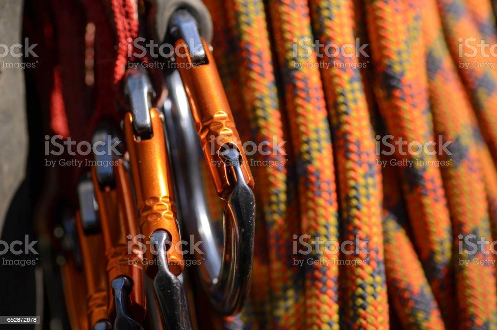 Climbing Equipment stock photo