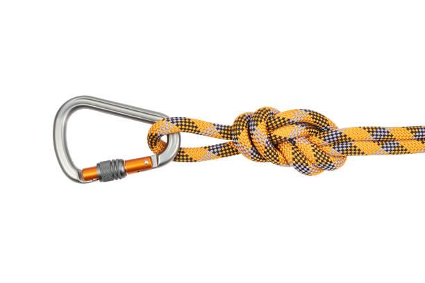 climbing equipment - верёвка стоковые фото и изображения