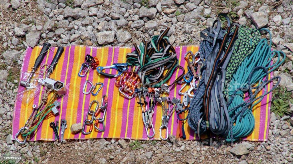 Équipements d'escalade - Photo de Affaires libre de droits