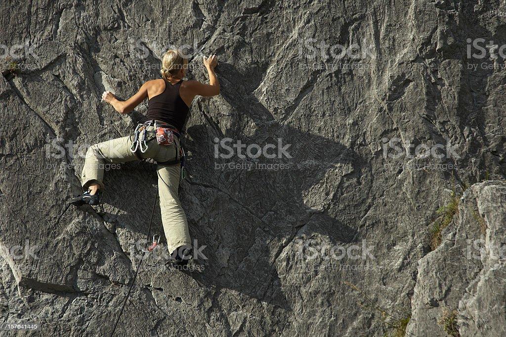 Climbing Girl royalty-free stock photo