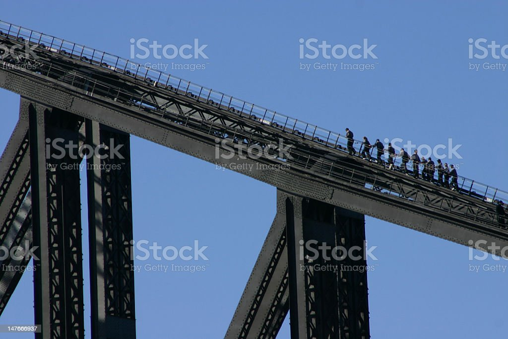 Climbing Harbour Bridge 1 royalty-free stock photo