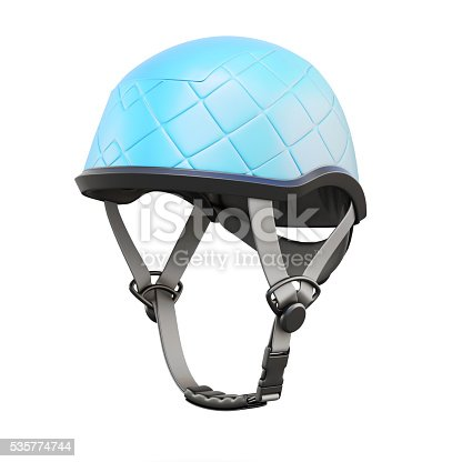 istock Climbing helmet on white background. 3d rendering 535774744