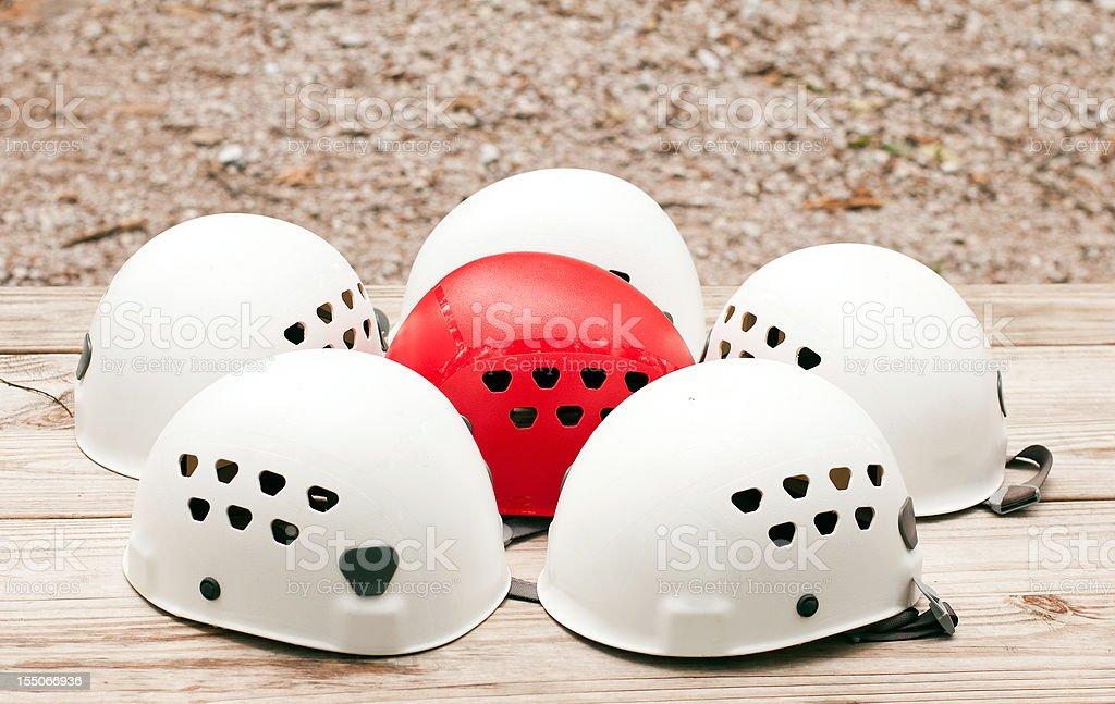 Climbing Helmets royalty-free stock photo