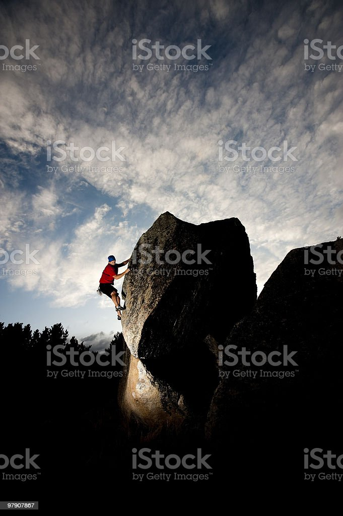 climbing in beauty royalty-free stock photo