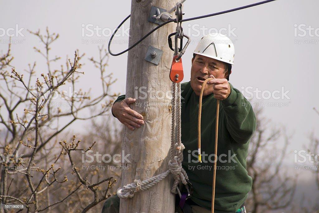 Climbing Instructor royalty-free stock photo