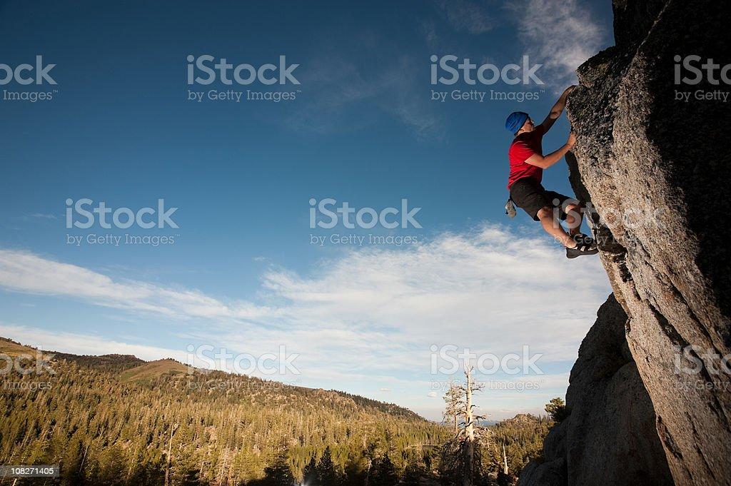 climbing man royalty-free stock photo