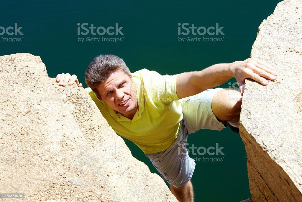Klettern Lizenzfreies stock-foto