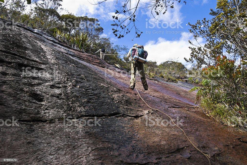 Climbing royalty-free stock photo