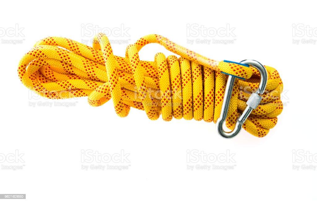 Klettern Seil auf weißem Hintergrund – Foto