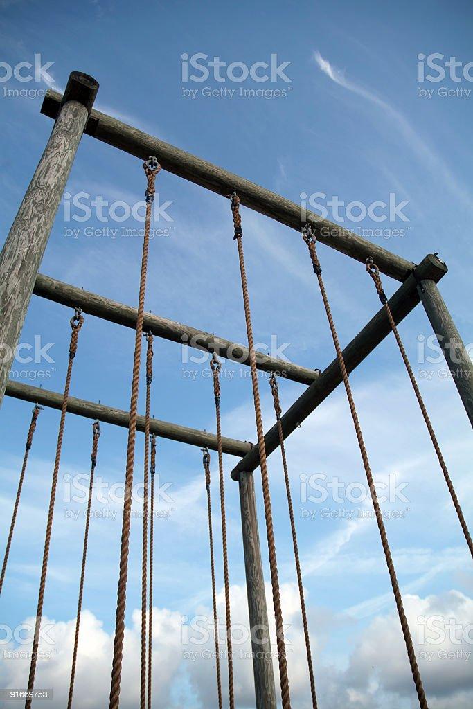 Climbing Ropes 02 stock photo