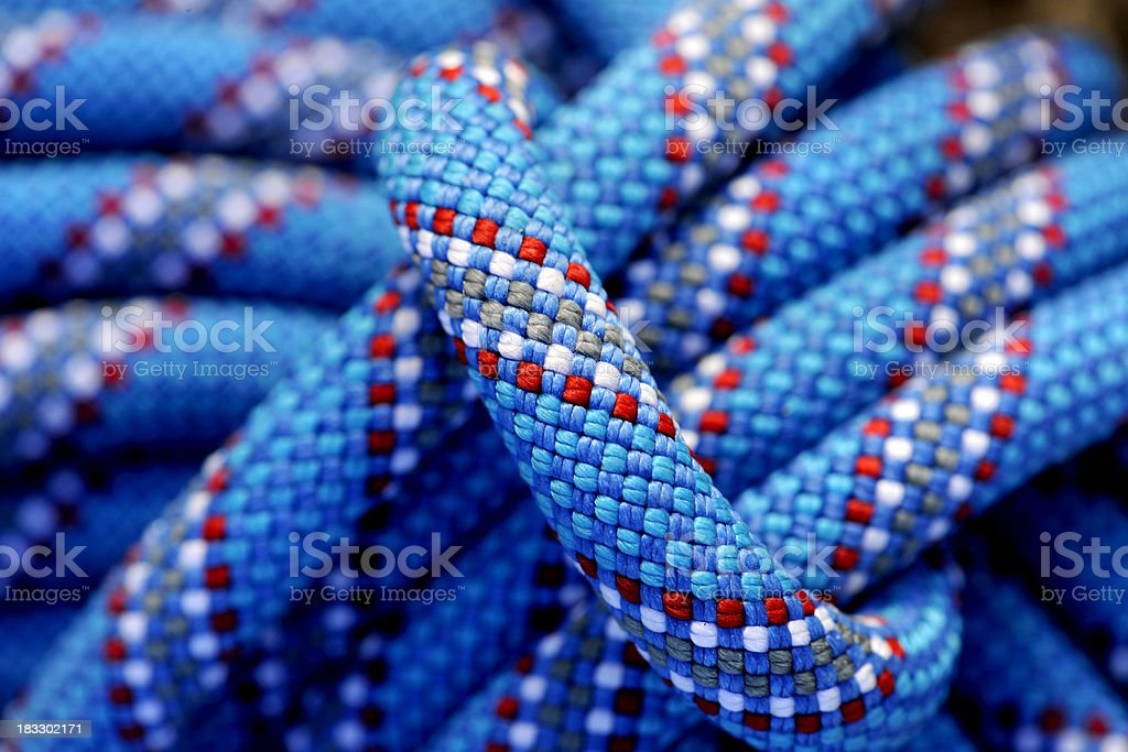 Climbing ropes in details stock photo