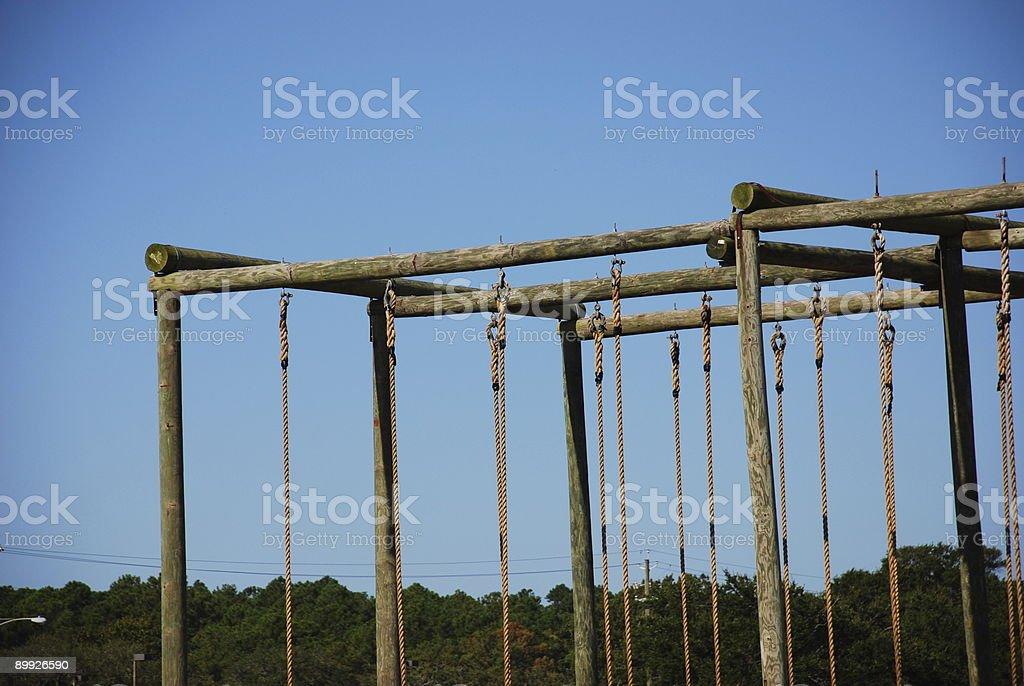 Climbing Ropes stock photo