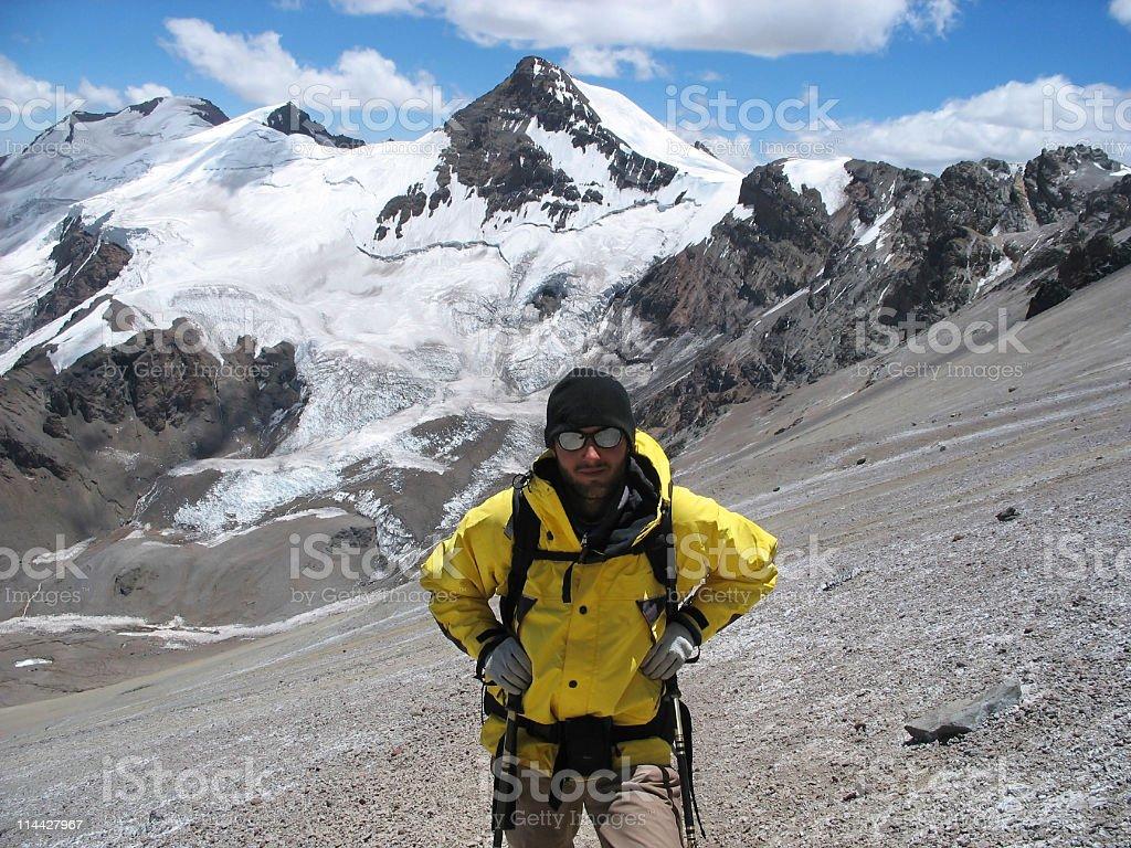 Climbing the Aconcagua stock photo
