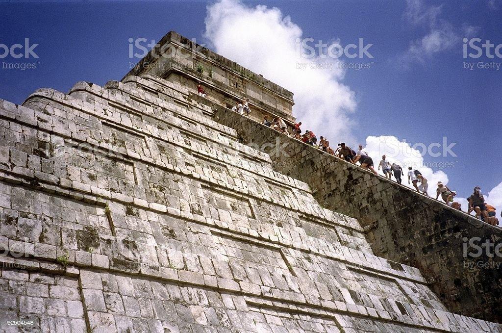 Climbing the Pyramid royalty-free stock photo