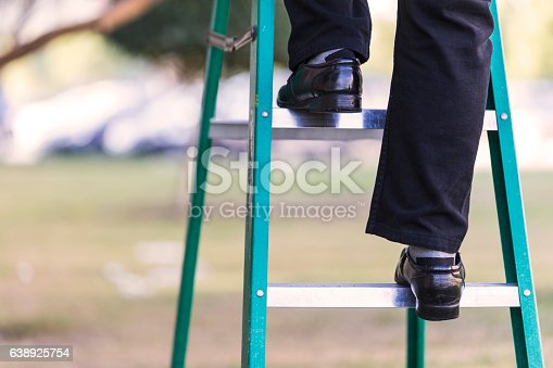 1048837520 istock photo Climbing the stairway to success. 638925754