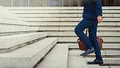 成功の階段を登る