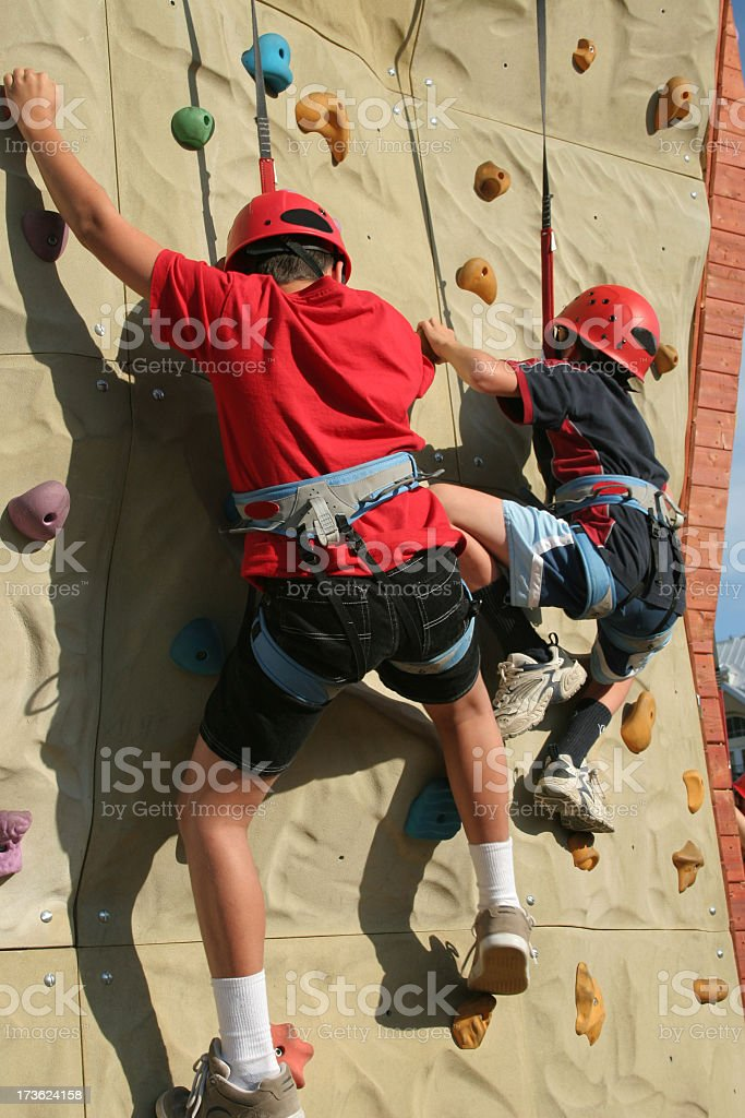 Climbing the wall royalty-free stock photo