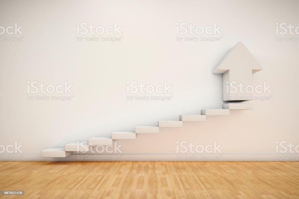Escalada para a direção de sucesso - foto de acervo