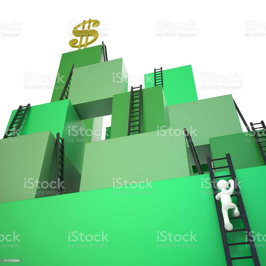 Climbing to Success royalty-free stock photo