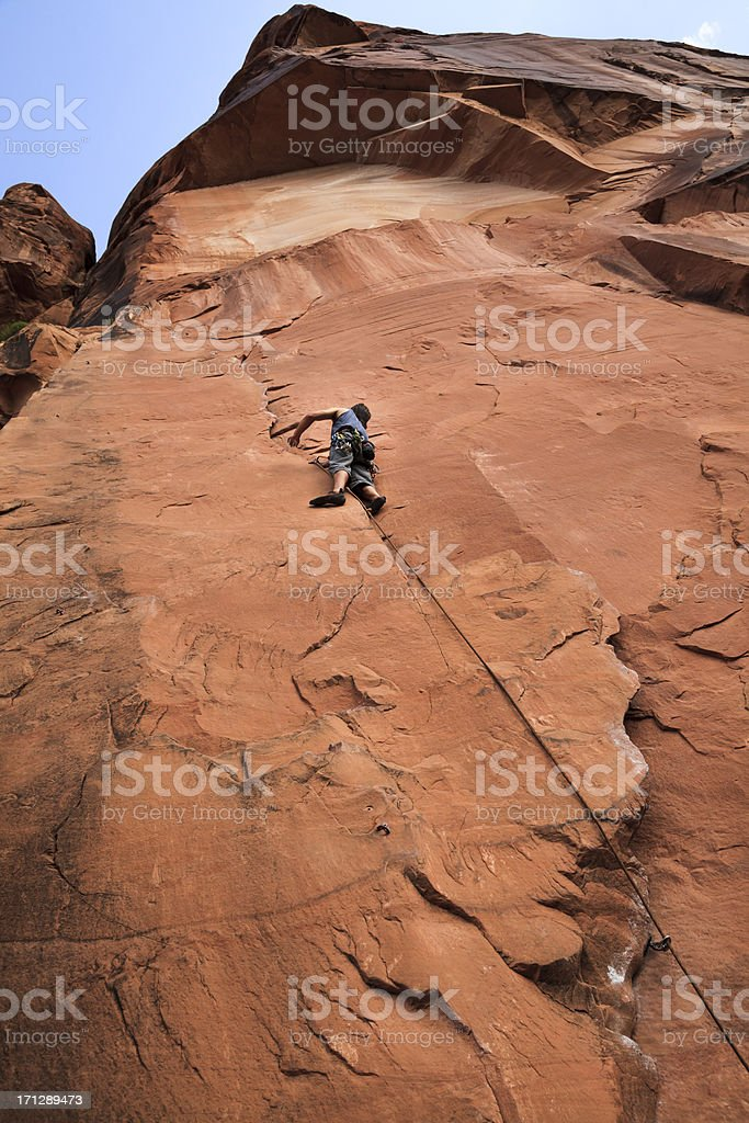 Climbing to the Top royalty-free stock photo